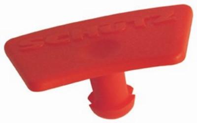 SCHÜTZ Originalitätsschutz rot - für Hahn DN50 mit Kunststoff-Flansch