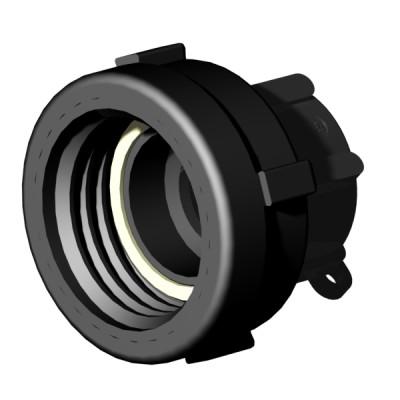 "IBC ADAPTER 360° PP/GF - DN50 S60x6 IG auf 1,25"" IG BSP (40mm) - drehbar"