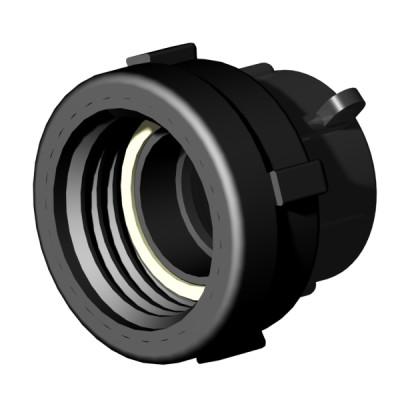 "IBC ADAPTER 360° PP/GF - DN50 S60x6 IG auf 1,5"" IG BSP - drehbar"