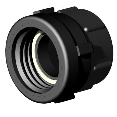 "IBC ADAPTER 360° PP/GF - DN50 S60x6 IG auf 2"" IG BSP - drehbar"