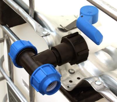 Anschluss-Stutzen S60x6 IG mit T-Stück mit Klemmverbinder (32mm)