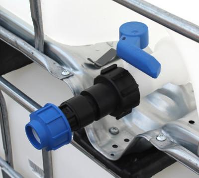 Anschluss-Stutzen S60x6 IG mit Klemmverbinder (32mm) Gerade aus