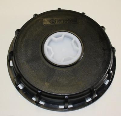 IBC Deckel NW150 - schwarz - G2-Spundstopfen - TPE-V