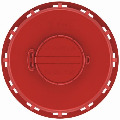 IBC Deckel NW150 - rot- G2-Entl.-Vent. - TPE-V