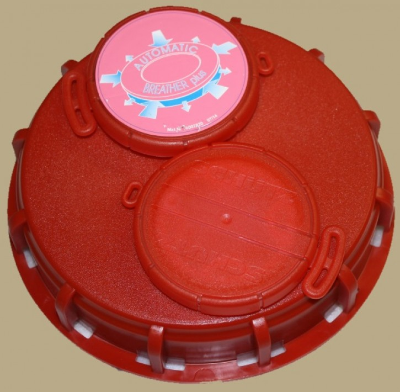 "IBC Deckel NW150 - rot - UN- 2xG2""Bel./Entl. NBR u. Einpressteil - TPE"