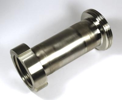IBC Adapter V4A - DN50 S60x6 IG auf RD78x1/6 DN50 AG Milchgewinde - lang 200mm