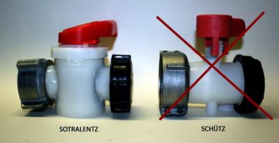 Sotralentz Zylinderhahn DN50 / EPDM / ALU