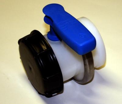 Werit Schiebehahn DN80 / PCP / Griff blau