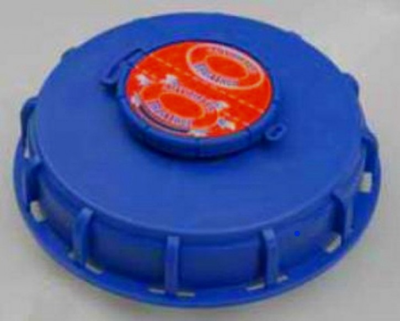 IBC Deckel NW150 - blau - G2-Bel.-Vent - TPE-V+NBR Mem