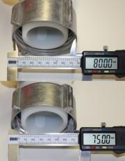 Kugelhahn DN50 mit frei drehender Alumutter (80mm)