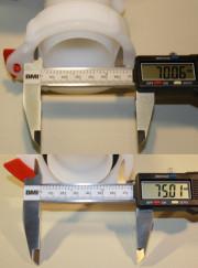 Schütz Klappenhahn DN50 S60x6 EPDM mit EX UV weiss ALU