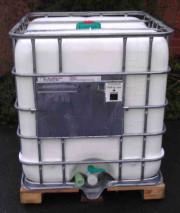 Regenwassertank 1000 Liter - UV Schutz weiss - 1ste Wahl - NW150 - DN50 auf Holzpalette
